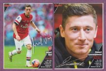 Arsenal Mesut Ozil & Bayern Munich Robert Lewandowski